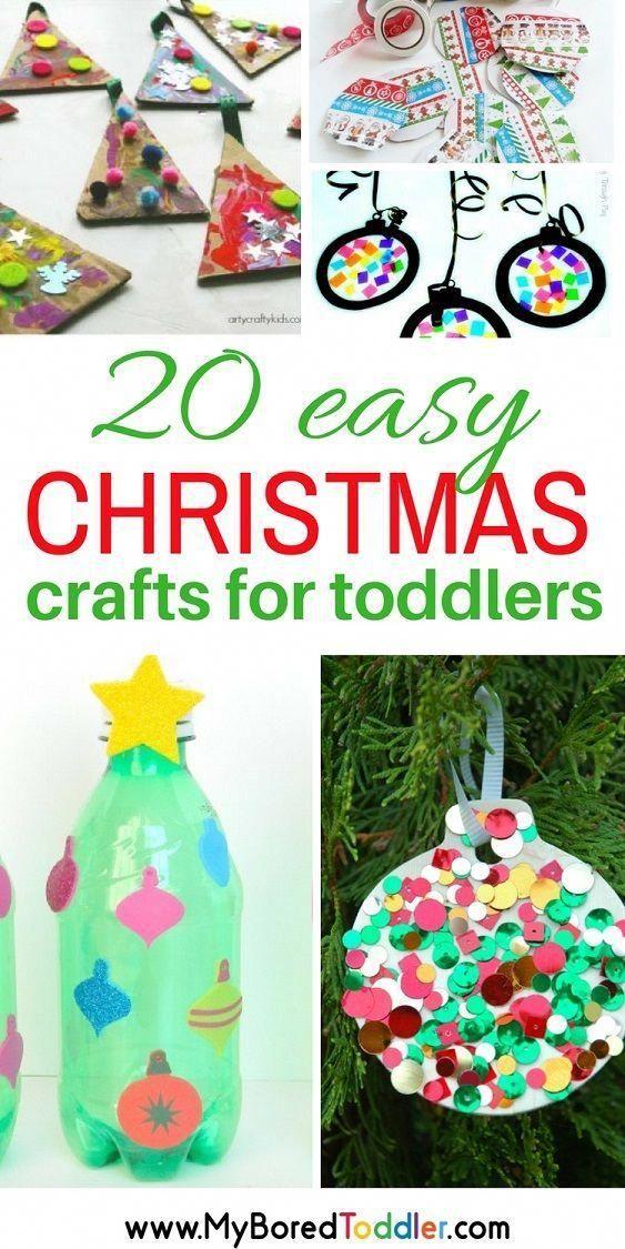 einfaches Weihnachtshandwerk für Kleinkinder. Weihnachtsaktivitäten ...