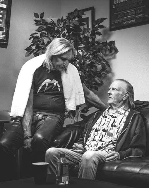 Randy visiting Joe Walsh backstage at Coachella, May 19, 2017.