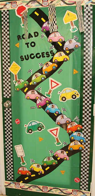We're on the Road to Success! | 29 Awesome Classroom Doors For Back-To-School