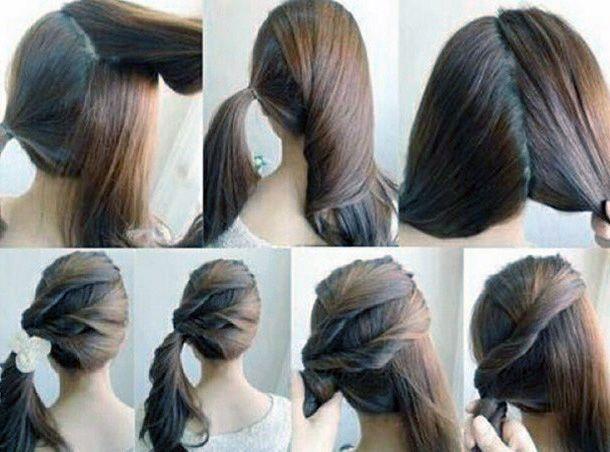 fryzura upięta na bok 23526