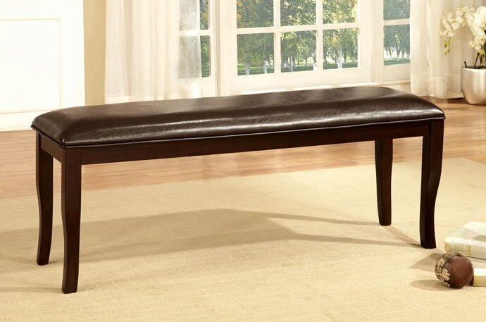 Furniture Of America Cm3024bn Woodside Collection Two Tone Dark Cherry Finish Wood Dining Bench And