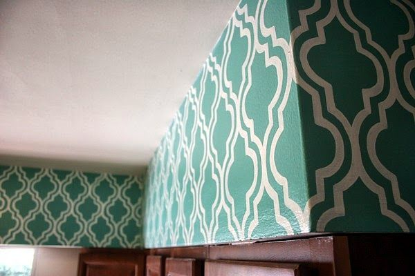 I've seen moroccan wall stenciling all over pinterest for a while now and I wanted to pull off this look somewhere in our house. I first ...