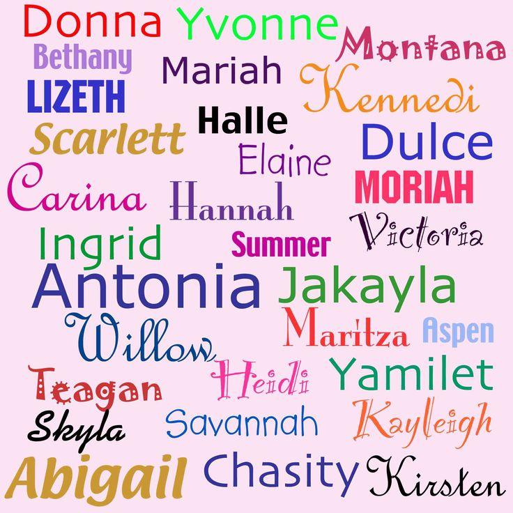 girl names list | Trendy girl's name?