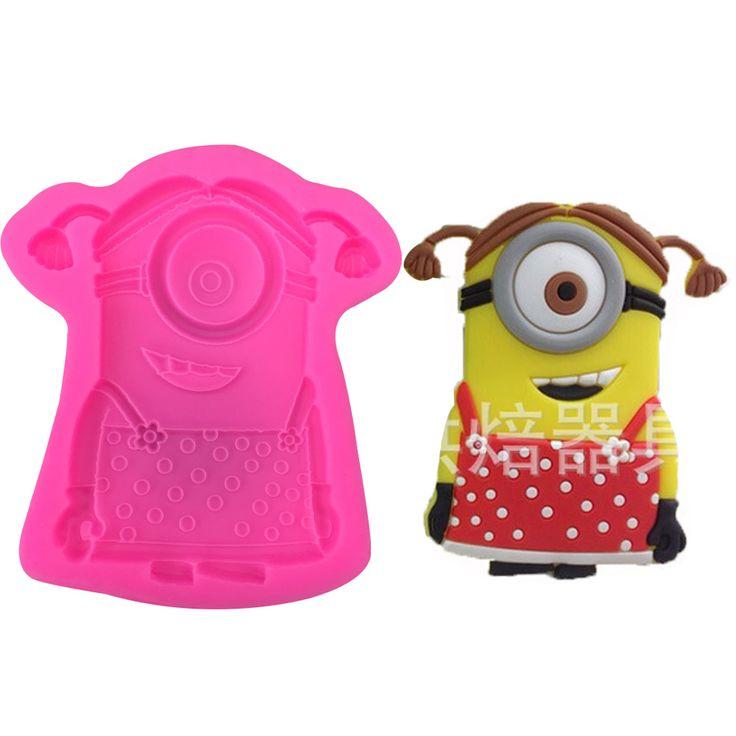 новые девушки носят юбки маленькие желтые люди силиконовые формы шоколадной помадкой торт украшение выпечки инструменты кухни F0370
