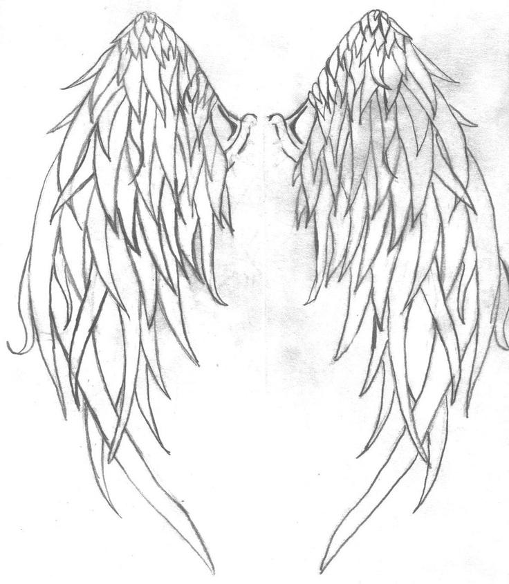 эскиз крылья ангела картинки между
