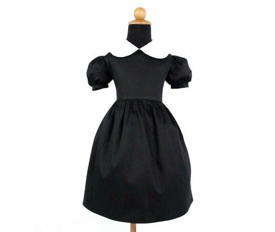 Girl's Wednesday Addams Inspired Dress 109792