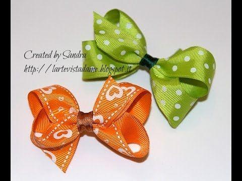 Boutique bow tutorial-Twisted bow-Come realizzare un fiocco boutique-Fiocco Fai da te