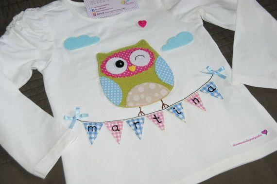Camiseta Buhita coqueta, Niños y bebé, Ropa, Ropa, Camisetas, Fechas señaladas, Cumpleaños, Textil, Niños, Comuniones, Detalles de comunión