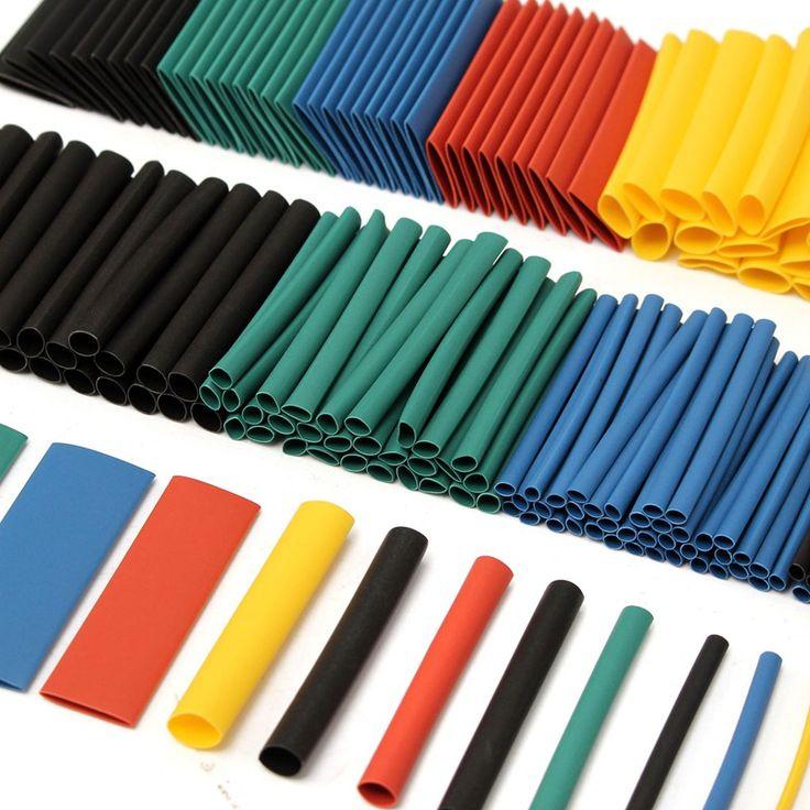 280 Pcs 2:1 Panas Kecilkan Tabung Kawat Kabel Lengan 5 warna 8 Ukuran Aneka Poliolefin Halogen-Free untuk Wrap Set Sleeving kit