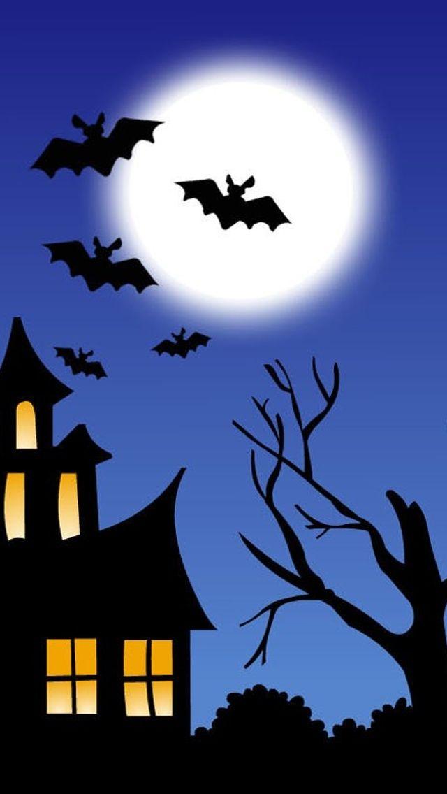 Halloween Bats Iphone 5 Wallpaper 640x1136 Halloween Canvas Halloween Illustration Halloween Wallpaper Iphone