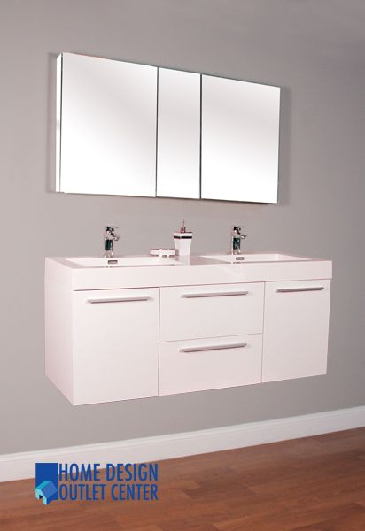 The Art Gallery AT W Double Modern Bathroom Vanity Set White