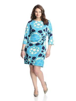 50% OFF JB by Julie Brown Pl Women's New Morgan Sheath (Blue Glass)