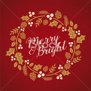 Vintage Christmas Card - Illustration Royalty Free Stock Vector Art Illustration