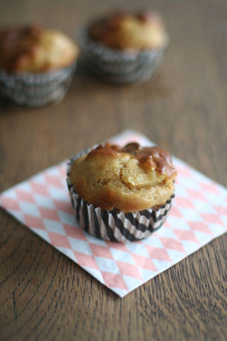gezond kwarkbrood in kleine muffin vormpjes voor een gezonde snack