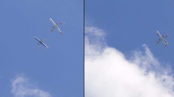 Εικόνα που «κόβει την ανάσα»: Δύο αεροπλάνα πετούν το ένα κάτω από το άλλο