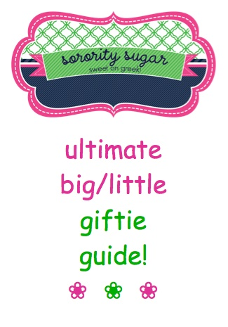 the sorority sugar list of big/little gift ideas for crafting or buying! <3 BLOG LINK: http://sororitysugar.tumblr.com/post/46437120642/ultimate-big-little-giftie-guide#notes