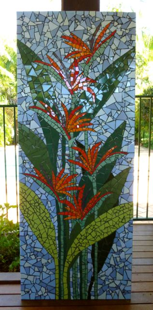 'Bird of paradise 2' A large mural for a lovely couple who live on the canals in Port Macquarie.