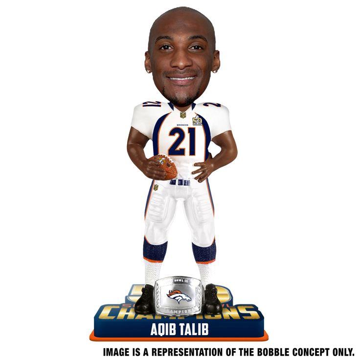 Denver Broncos Aqib Talib Bobblehead - Super Bowl 50 Champion