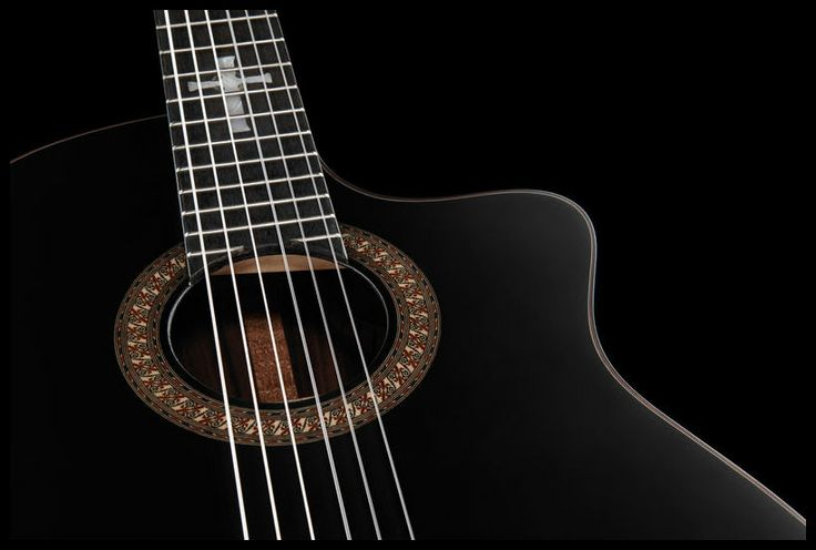 Walden N600CEB Natura Negra BK, mahogany neck with 'Celtic Cross' inlay #walden #guitar #thomann