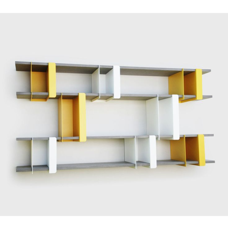 Colorful Modern Interior Home Wall Mounted Book Shelves Design With Wall  Mounted Gray White Yellow Modern Unique Shape Home Interior Furniture  Storage ... Part 35