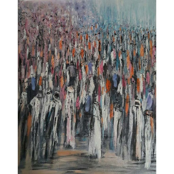 Original artwork by CATY CORDAHI  - 73 x 60 cm - Mixed media photos and oil paint on canvas - 2017  Ships stretched in UAE or rolled internationally  For inquiries please call +971.55.269.0.289 or email us at info@MondaGallery.com