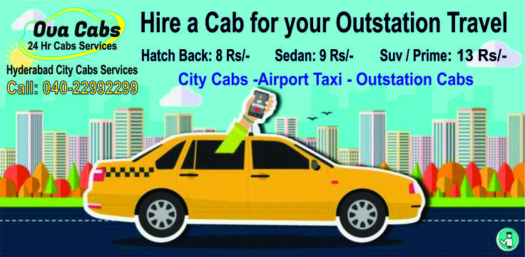 Cabs in Hyderabad call Cabs to book your Airport cabs in Hyderabad and outstation cabs in Hyderabad car rental service at very affordable and reasonable prices and good tariff plans for airport Taxi, Outstation Cabs 8/- Rs per km & City Cabs local tour Hyderabad call us @040-22992299 for Taxi Cab services in Hyderabad we have faster Ova Cabs service yellow cabs Hyderabad Dots cabs sky cabs Safe Cabs cheapest cab service in hyderabad cheap cabs in hyderabad Best and safe cabs in hyderabad…