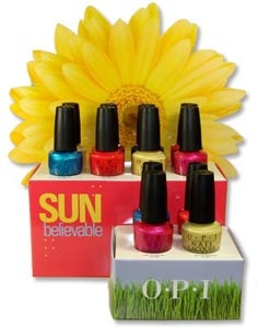 OPI SUNbelievable Summer nail polish collection 2009    If The Fuchsia Fits… Wear It! NL D26  Banana Bandanna NL D27  Sea? I Told You! NL D28  I'm His Coral-friend NL D29