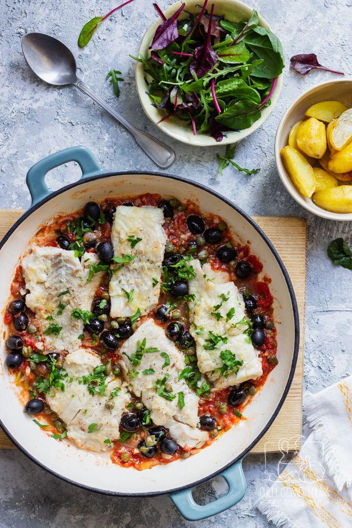 Chilli Czosnek I Oliwa Blog Kulinarny Dorsz W Stylu Livorno W Sosie Pomidorowym Z Oliwkami I Kaparami Dinner Food Recipes