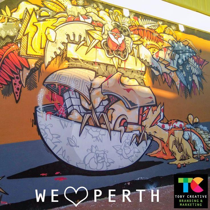Local street art in Perth, Western Australia https://tobycreative.com.au/perth-western-australia/ #graffitiart #streetart #urbanart #localart #perth #wa #streetsofperth