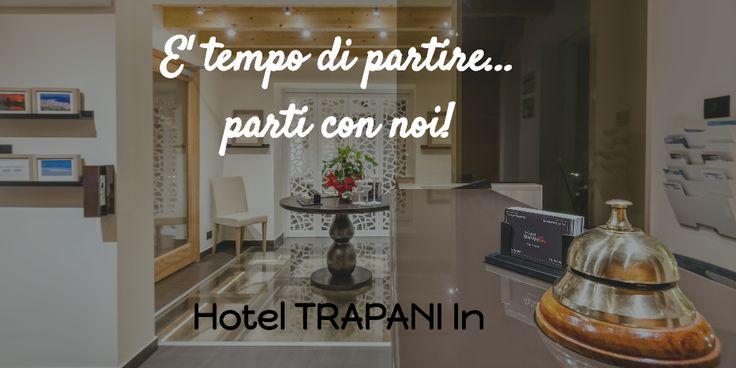 """E' tempo di partire, di viaggiare.   """"Hotel Trapani In"""" è un hotel in pieno centro storico a #Trapani, elegante e moderno. Da noi potrete assaporare il gusto della vera #Sicilia in totale comfort.  Venite a trovarci :)  #hoteltrapaniin #trapani #hotel #design"""