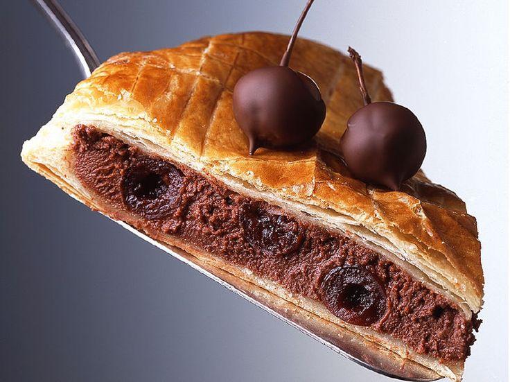 Galette au chocolat et aux griottines