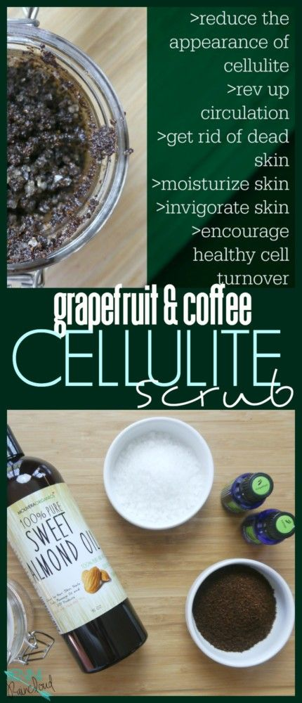 coffee scrub for cellulite diy