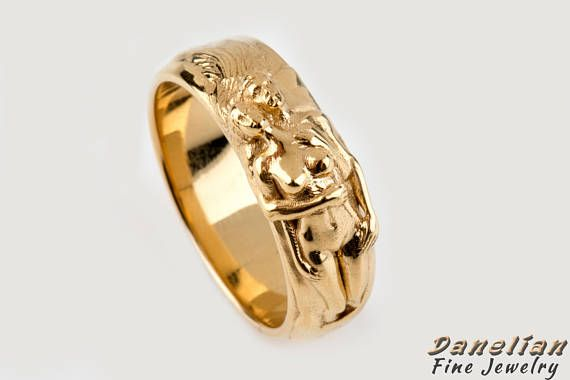 Gift Lover Ring, Erotic Art, Lovers Couple Band, Romantic Gift, BDSM Ring, Naked Couple Ring, BDSM Band, Master Ring created in solid gold or sterling silver. Goldsmith made 3D ring with naked couple on the top of the ring. Sculpture ring made in solid gold. Ring as preferred. Danelian Jewelry creates fine jewelry, based in Athens, Greece and ships worldwide. We appreciate your interest in our goldsmith workshop made jewelry. #danelianjewelry #eroticart #bdsm #bdsmring #naked #nude #ring