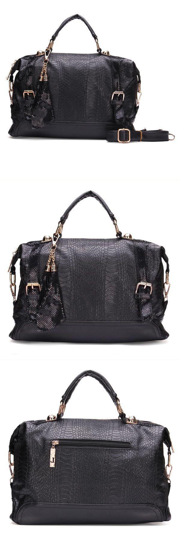 Fashion women snake print pattern tassel bag handbag shoulder bag zamp;l handbags #$6 #handbags #2 #zip #handbags #handbags #nordstrom #rack #handbags #trend #2018
