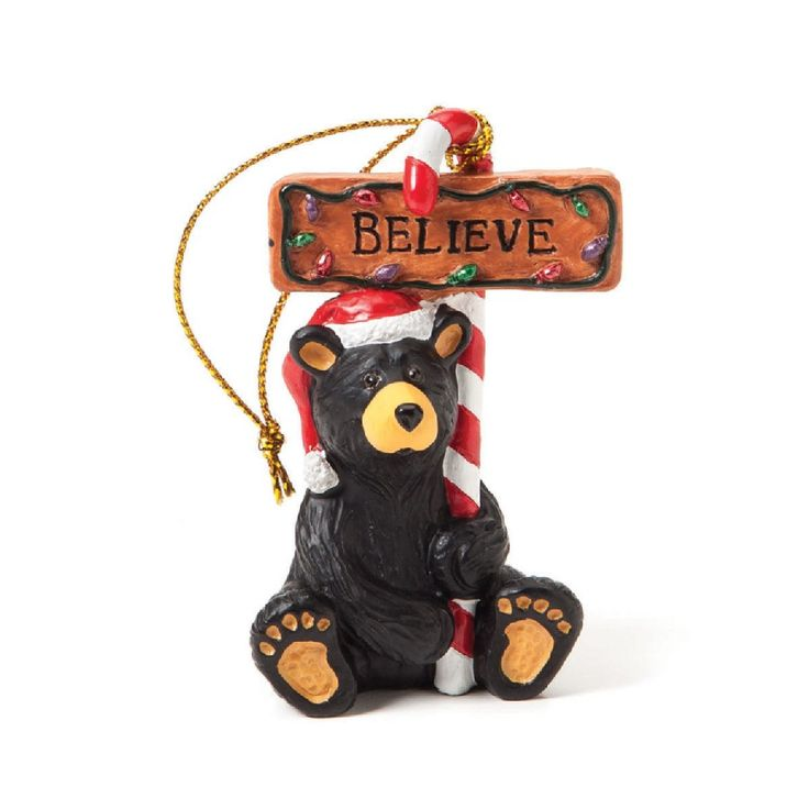 Believe Bear Ornament Big Sky Carvers Pinterest Ornaments And Bears
