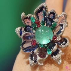 One of #BaselWorld2016 favourite pieces is this Paraiba Tourmaline ring…