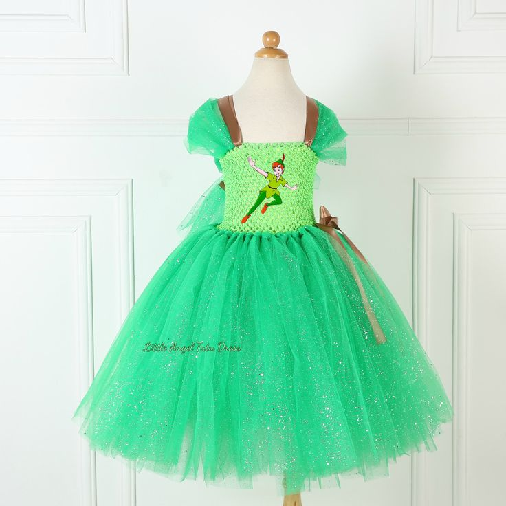 Peter Pan Inspired Tutu Dress. Handmade Tutu Dress. Birthday Party. Fancy Dress. Peter Pan Costume. Peter Pan Never Land Pirates. Fairy Tale by LittleAngelTutuDress on Etsy
