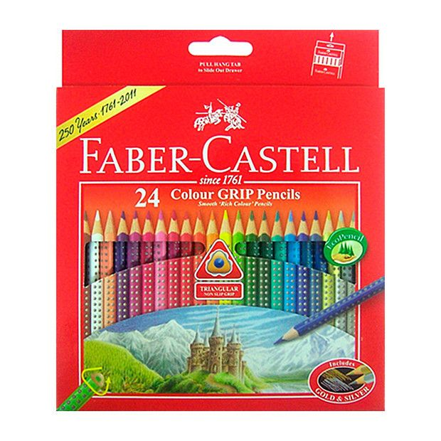 Faber Castell Grip Coloured Pencils Pack Of 24 Coloured Pencils Faber Castell Pencil