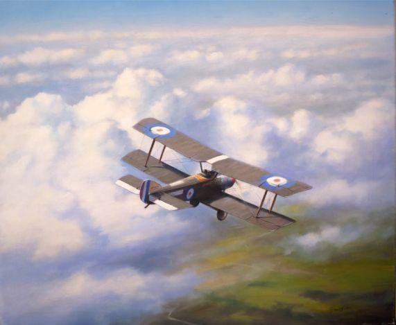Aviation Art Painting by Terry Jones - Happy