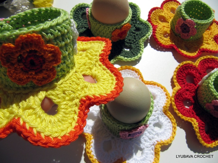 Crochet Egg Holder : CROCHET EGG HOLDER, Easter Decorations, Easter Gift, Easter Table ...