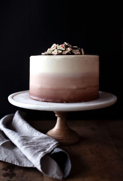 PEPPERMINT BARK CHOCOLATE & VANILLA CAKE — MODEST MARCE