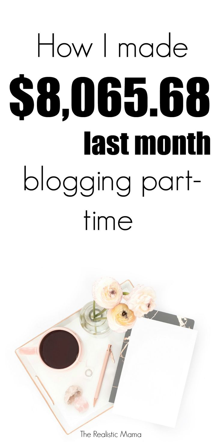 How I made $8065 last month blogging part-time