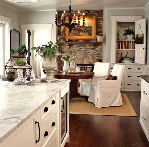 17 Best Ideas About Fireplace In Kitchen On Pinterest