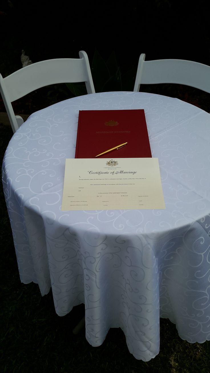 My beautiful registration book and a copy of the Certificate of Marriage