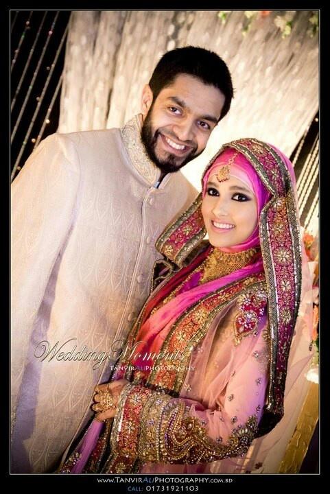 Bengali bride in hijab...