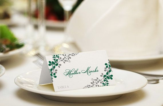 20 best Wedding Place Card Templates images on Pinterest Card