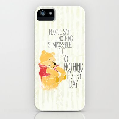 I do nothing every day iPhone & iPod Case by Sara Eshak - $35.00
