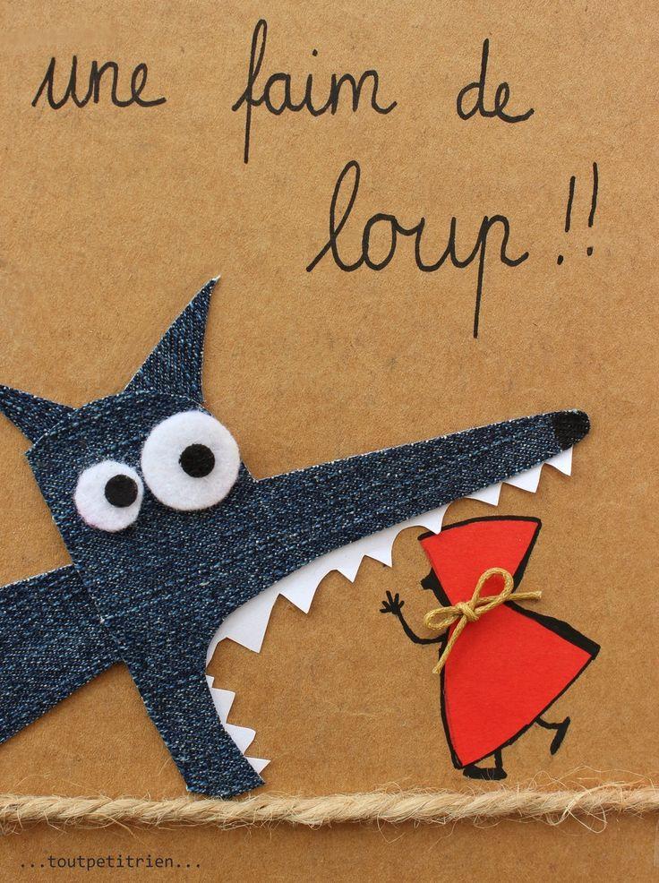 Une faim de loup! www.toutpetitrien.ch / fleurysylvie #jeans #recycle