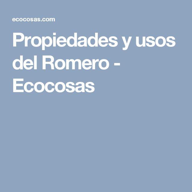 Propiedades y usos del Romero - Ecocosas