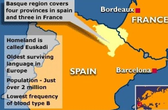 Map Of The Basque Region Of Spain It Has One Of The Highest Rates